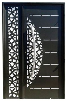 Porte de deux Battants en Fer découpée au Laser_PDR Grill Gate Design, Front Gate Design, Steel Gate Design, Main Gate Design, Door Gate Design, Room Door Design, Door Design Interior, Wooden Door Design, Main Entrance Door Design