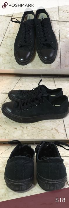 Converse Allstars unisex Used, great condition, all black, unisex, low top Converse Shoes Sneakers