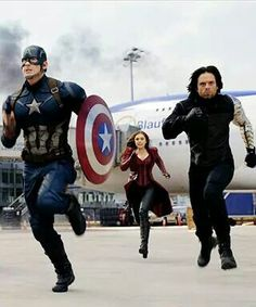 Our enemies know them as Captain America, The Scarlet Witch & The Winter Soldier. But we who choose to stand beside them in any war know them as Steve, Wanda & Bucky. Remember these names.