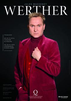 WERTHER - Oper von Jules Massenet // Premiere: 6. Dezember 2014, Theater Duisburg // Andrej Dunaev (Werther) // Foto: Hans Jörg Michel / Gestaltung: Markwald Neusitzer Identity