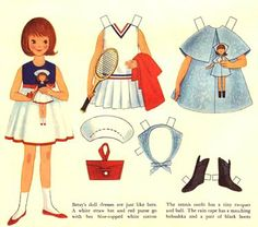 Betsy McCall paper dolls.  New doll and new clothes in each issue of McCall's magazine.  Played with paper dolls for hours at a time!