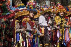 Toro Huaco dancers at Fiesta de San Sebastian.