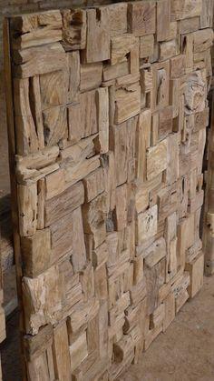 Recycle Teak Wall Deco 100 x 100 x 12