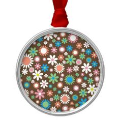 Floral Christmas Tree Ornaments #Flower #Floral #Ornament