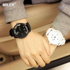 MILER  Quartz Lover's Wristwatches with Soft Silicone Strap