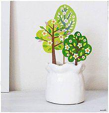 Dekorácie - Dekorácia kvitnúce stromy - 6518137_