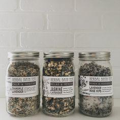 Three Herbal Bath Tea Recipes // Under a Tin Roof