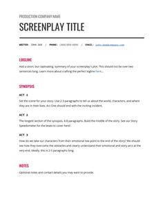 How to Write an Unforgettable Synopsis Writing A Movie Script, Tv Writing, Film Script, Writing Skills, Writing Tips, Writing Prompts, Script Writing Format, Screenplay Template, Screenplay Format