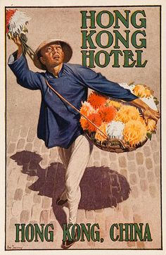 DP Vintage Posters - Hong Kong Hotel Original Luggage Label