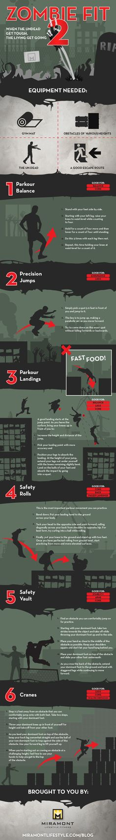 Six essential parkour moves to help you survive the zombie apocalypse