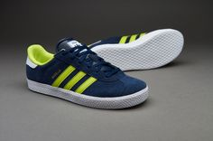 Boys Shoes - adidas Originals Gazelle 2 - Collegiate Navy / Semi Solar Yellow / White - M17245