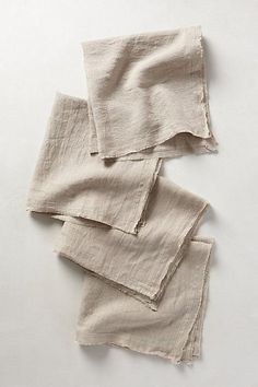 Rustic Linen Napkin Set: I love these linen napkins for so many uses in your farmhouse decor. Linen Napkins, Cloth Napkins, Napkins Set, Textiles, Flax Fiber, Halloween Party Themes, Kitchen Collection, Towel Set, Natural Linen