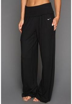 Nike - Ace Wide Yoga Pant (Black/Black) - Apparel @ Zappos (size small)