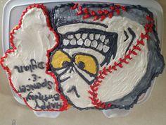 Baseball cupcake cake..... For my sons team.... 2013