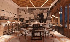 "interior-design-home: ""Nos encanta Canard et Champagne en Paris! In love with Canard et Champagne in Paris! #arquitectura #arquitecturainterior #diseñointerior #diseño #deco #interiorismo #interiores #inspiracion #architecture #interiorarchitecture..."