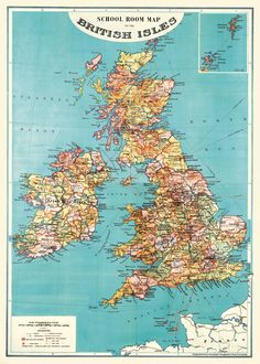 Cavallini & Co British Isles wrapping paper