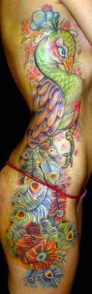 peacock tattoo on body