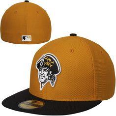 Pittsburgh Pirates New Era Alt On Field Diamond Era 59FIFTY Fitted Hat -  Gold Black 0986c09a849