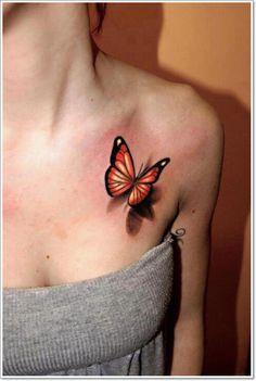 5 tatuajes de la mariposa - Tatuaje Hermoso