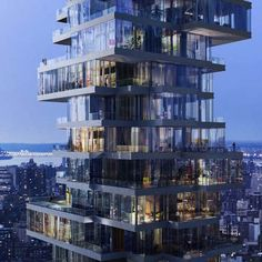 Work has started on the construction of 56 Leonard Street, a 56-storey residential tower in New York designed by architects Herzog & de Meuron. The tower, the architects' first, will be built on the corner of Leonard Street and Church Street in Tribeca. A specially commissioned sculpture by Anish Kapoor will sit at the corner