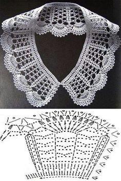 """Monica Veloso Castro added a new photo — with Maria Ale Torres."", ""Stitch crochet pattern for women"", ""It is a website for handmad Crochet Bolero, Col Crochet, Crochet Collar Pattern, Crochet Lace Collar, Crochet Diagram, Crochet Blouse, Crochet Chart, Thread Crochet, Irish Crochet"