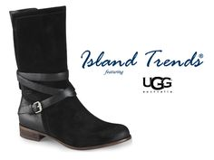 The Ugg Deanna Boot, born in the staples, showcases a wrapped, buckled strap and has become the epitome of chic. Shop for the Ugg Deanna at Island Trends: http://www.islandtrends.com/index/page/product/product_id/20558/category_id/1687/product_name/UGG+Women%27s+Deanna+Boots+-+Black #islandtrends #uggdeannaboot #blackboot #uggboots