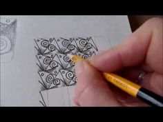How to draw tanglepattern Glace - YouTube
