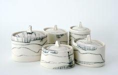 Ceramic vessels by Bianka Groves