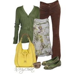 """""""Casual - #22"""" by in-my-closet on Polyvore.  Love the top and belted sweater."""