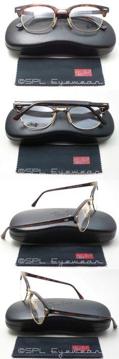 b3f9977ade Eyeglass Frames  Ray Ban Clubmaster Optics Rx Rb5154 2372 Gold Tortoise  Havana Frame 49 Mm