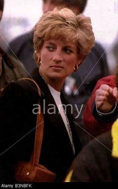 Princess Diana at Donnington Park Grand Prix April 1993: