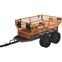 This handy Bannon Utility Trailer features a large x steel bed to haul loads up to 1600 lbs. Flared side panels effectively contain the load but are removable for increased capacity when hauling bulky loads. Some assembly required. 1985 Chevy Truck, Chevy Truck Models, Chevy Diesel Trucks, Atv Dump Trailer, Atv Trailers, Log Trailer, Small Cooler, Loading Ramps, Expedition Truck
