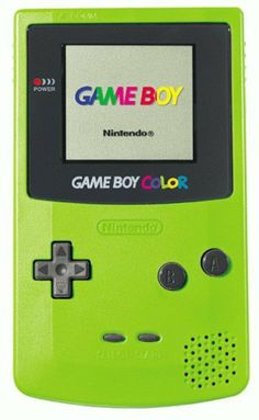 Gameboy Color..mine was a see-through purple and had it til within last couple years....before that??? Solid black n the 3 of us kids had to SHARE ittt. Ha, back off my gameboy suckah! :)