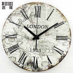 1596 world map clock mix clocks pinterest clocks large wall clock of world map w roman numerals pendulum option gumiabroncs Image collections