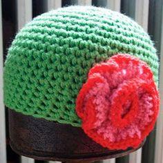 crochet flower power hat. So stealing this idea.