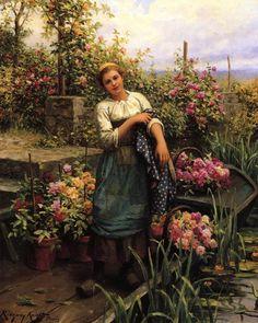 The Flower Boat by Daniel Ridgway Knight