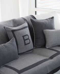 Coussin carré - Gris - BALMUIR 80% wool, 20% cashmere