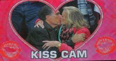 Be on the Kiss Cam (again) but this time close enough to be sure.