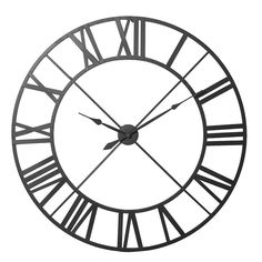Hung on exposed brick, stone or neat plaster, the Town Hall Clock is big and bold for modern interiors. Made from metal with a matte black finish, this large ci