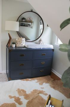 Mom Hack Monday- Cruze's Nursery Reveal, baby boy nursery, mid century nursery