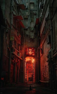 HK Project is a video game where you play cat exploring Hong Kongs densely populated mostly ungoverned Kowloon Walled City. Players control a cat as it explores its stylized world by jumpin Cyberpunk City, Ville Cyberpunk, Futuristic City, Kowloon Walled City, City Aesthetic, Aesthetic Dark, Aesthetic Grunge, Aesthetic Vintage, Aesthetic Anime