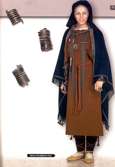 Latvia, archaeology costume 12th century  ** EXACTLY like unearthed clothing from VIKING WOMEN.