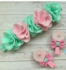 Felt rose headband blush pink headband first communion headband spring floral headband pale pink rose headband white rose headband – Artofit Felt Headband, Baby Girl Headbands, Baby Bows, Rose Headband, Felt Diy, Felt Crafts, Diy And Crafts, Felt Hair Accessories, Bow Tutorial