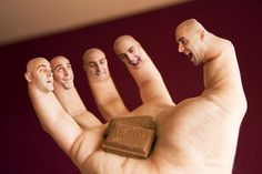 i love chocolate  Hands And Fingers Photo Manipulations