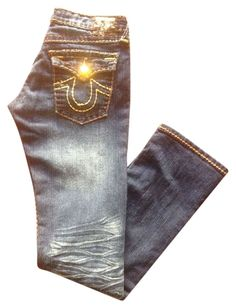 True Religion Boot Cut Jeans. Get the lowest price on True Religion Ricky Gold Gemstone Boot Cut Jeans and other fabulous designer denim styles! Shop Tradesy now