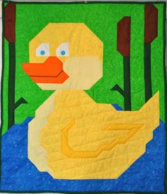 Duck Baby Quilt Pattern  PDF by CountedQuilts on Etsy, $9.00