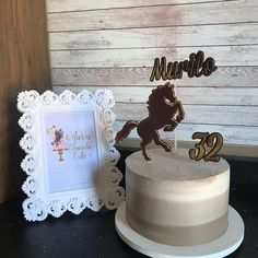 Horse Birthday, Birthday Cake, Cowboy Theme Party, Horse Cake, Fondant, Party Themes, Cake Ideas, Desserts, Kids