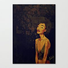afro - Soul Stretched Canvas by Mike Koubou - $85.00