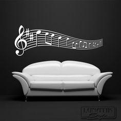 Wandtattoo Noten Musik Notenschlüssel   WA69