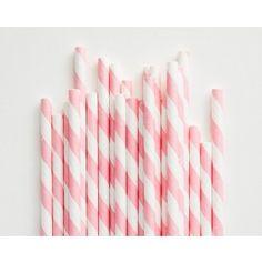 Pink Stripe Paper Straws-Set of 25 - Straws - Party - Shop Cakegirls
